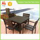 Backyard fashionable style 6 seater hard plastic table and chair
