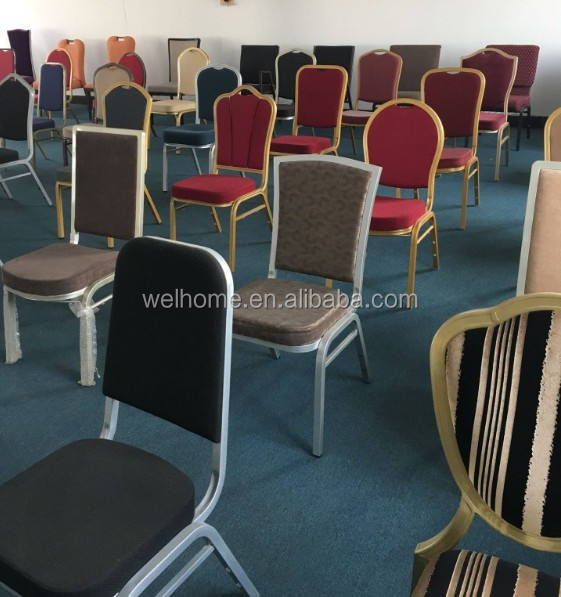 wholesale cheap used stackable metal banquet chairs