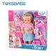 Hairdressing Pretend Play Lovely Fashion Baby Dolls For Girls