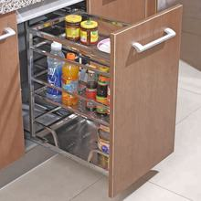 2019 Kitchen Wire Mesh Pull-out Drawer Storage Basket Display Kitchen Cabinets For Sale