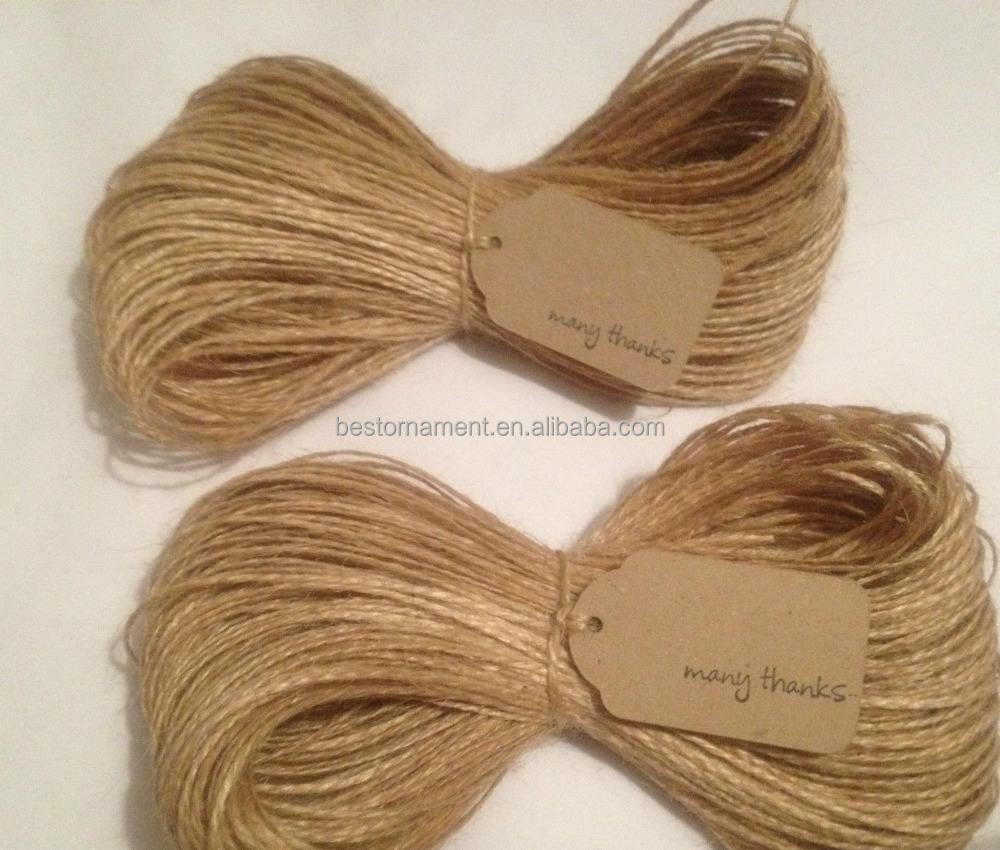 100m 2Ply Natural Brown Jute Hessian Burlap Twine Sisal Rustic String Cord 50M