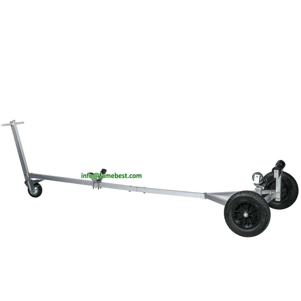 Aluminum Small Boat Trailer. Boat Dolly with 15'' Launching Wheels for small boats