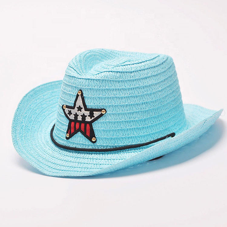 Customized Logo Outdoor Summer Paper Cowboy Hat Breathe Freely