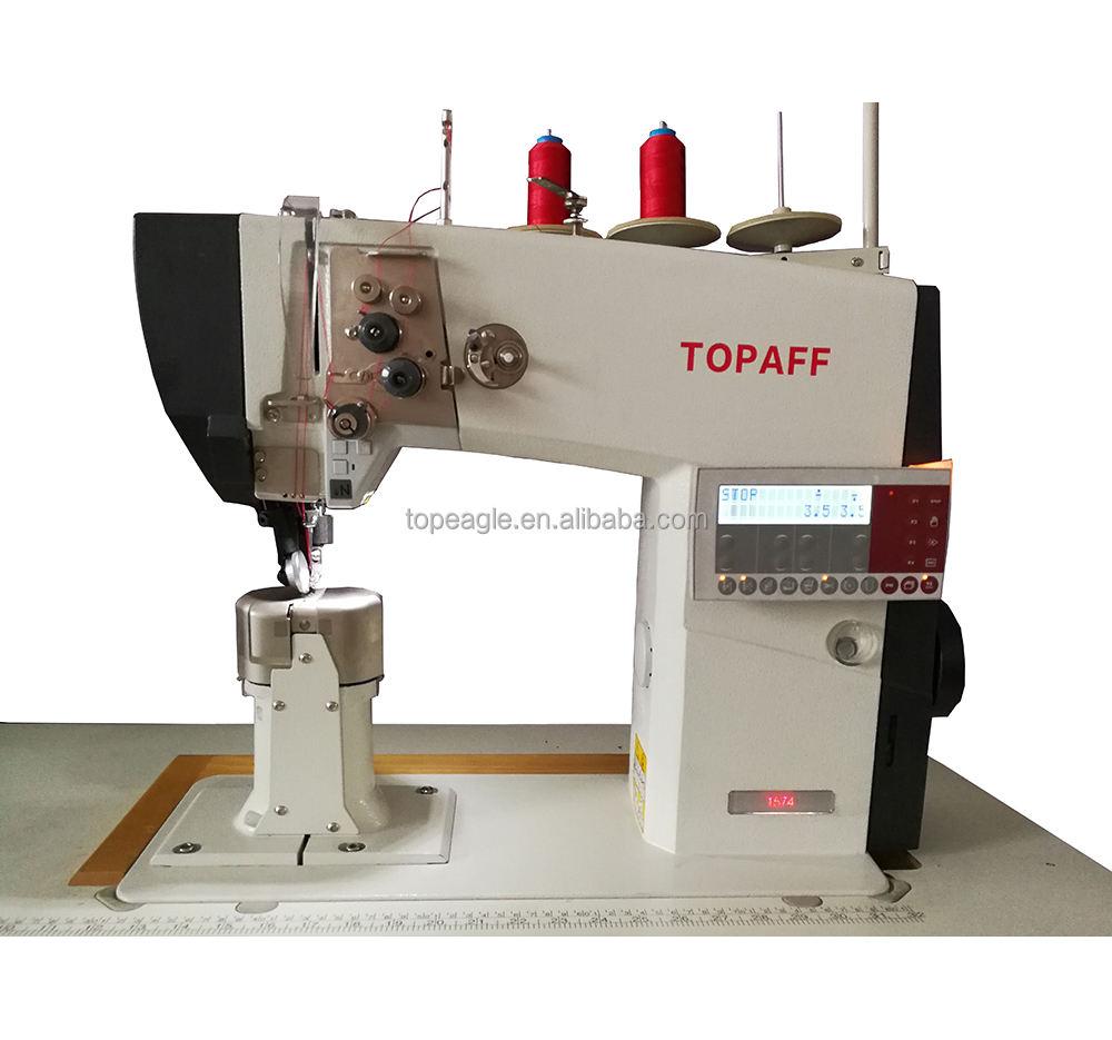 TOPAFF 1574 BL entraînement Direct double aiguille post lit chaussure machine à coudre industrielle