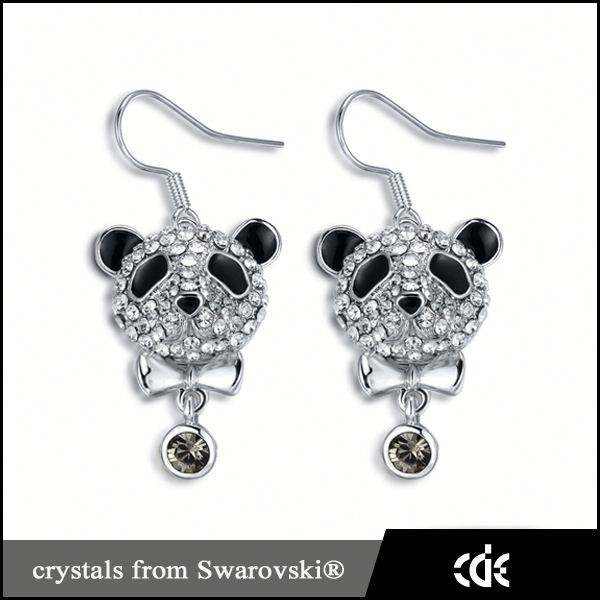 Cde cadeau d'anniversaire <span class=keywords><strong>gros</strong></span> pas cher Panda boucles d'oreilles bijoux