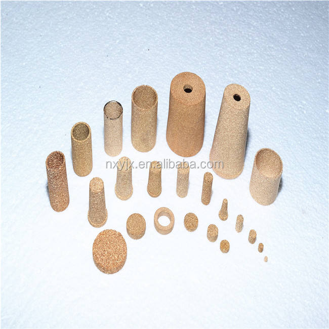 1-100 micron porous element sintered bronze/brass filters