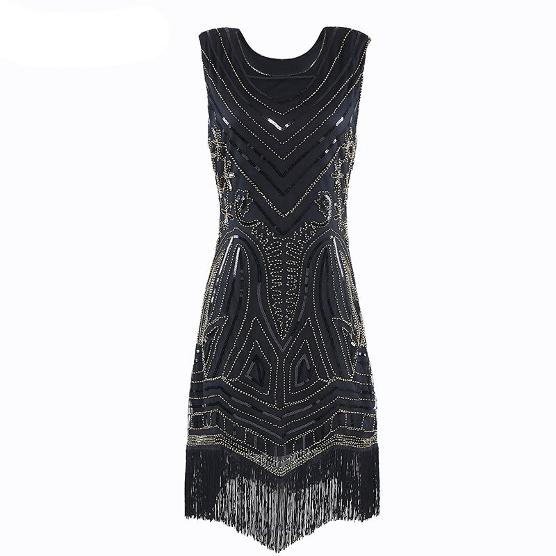 Fashion 1920s vintage dress beads art deco inspired Cocktail flapper dress