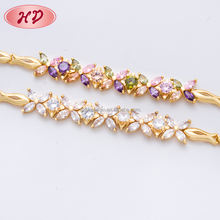 2017 Wholesale HD Jewelry Hit fashion design gold jewelries set 22k gold bracelet
