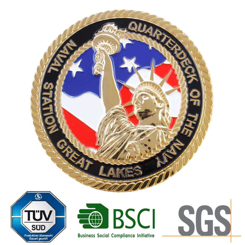 Process equipment gold finish collectible coin make your own design custom challenge coin old coin