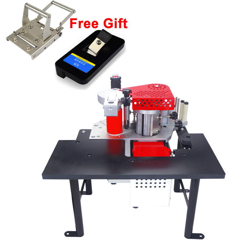 Portable Edge Bander/Manual Edging Banding Machine/Mini Edge Bander For Woodwork with edge trimmer cutter