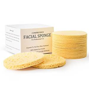 compressed natural facial cellulose sponge for cleaning