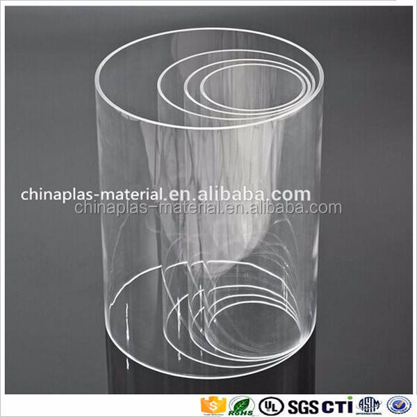 600mm Lengths 30mm to 70mm Diameters 500mm CLEAR PERSPEX ACRYLIC TUBE 400mm