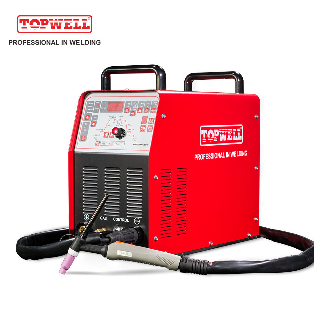 TOPWELL Tig-250 2018 Arc Soldadora Tig Mig Output Smoothly Keep Long Working Time Soldadora Inverter Pulse Mig Welder