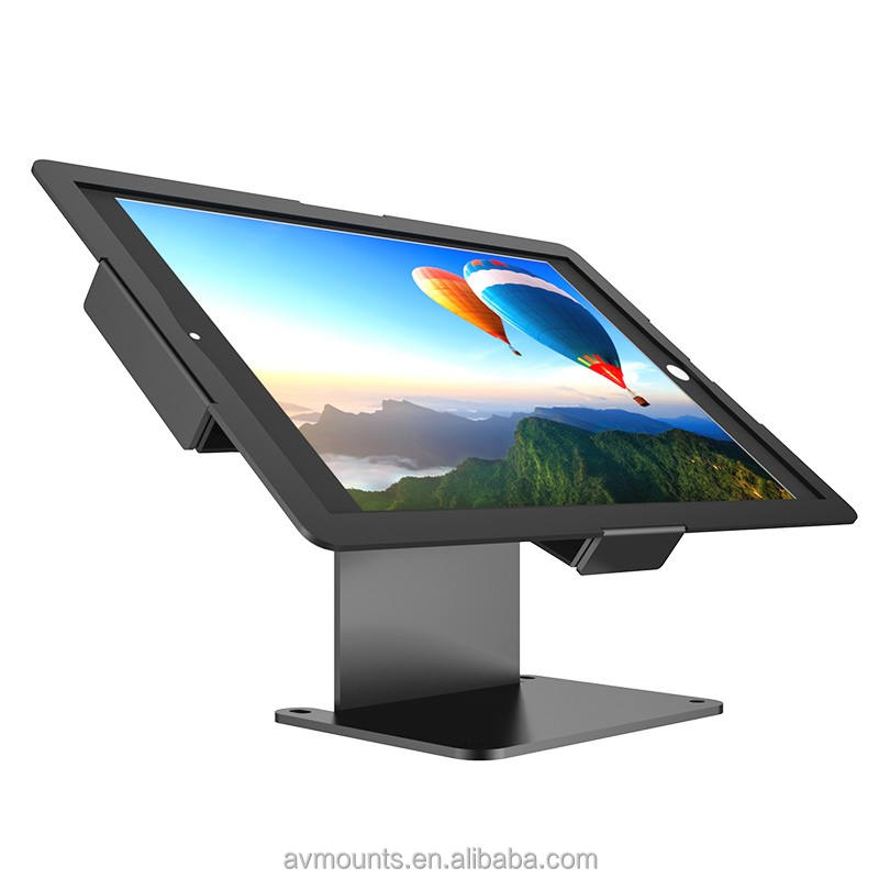 Flexible [ Holder ] Ultra Slim Adjustable Anti-theft Security Desktop Tablet Stand Holder With Slim Enclosure