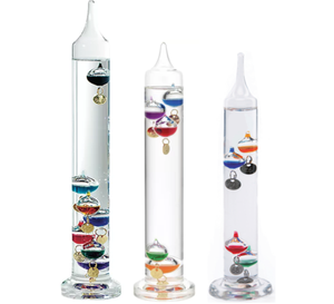 Household Desktop Glass Decoration Crafts Weather Forecast Predictor Bottle Galileo Thermometer