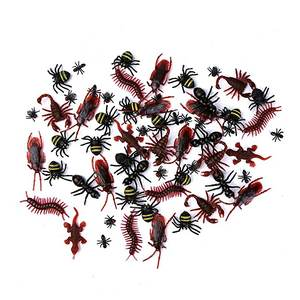 144Pcs Halloween Plastic Kakkerlakken Spinnen Scorpions Speelgoed En Bat Voor Halloween Party Gunsten En Decoratie