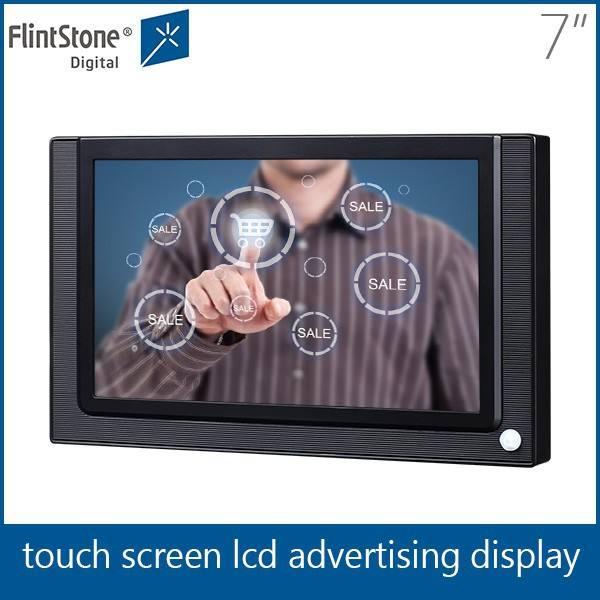 フリントストーン7インチusbsdカードデジタルサイネージプレーヤースーパーマーケットのタッチ画面