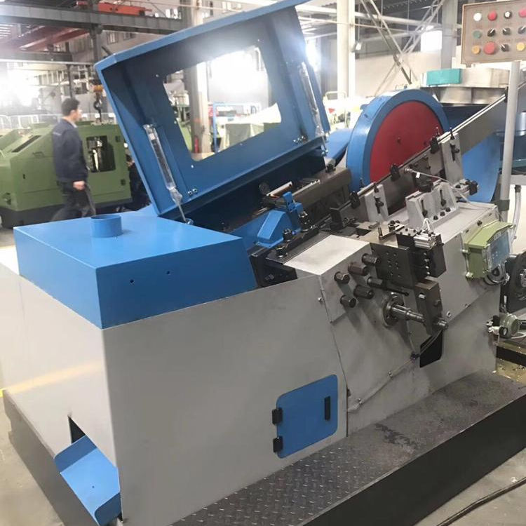 Thread rolling machine for dry wall screw or bolt
