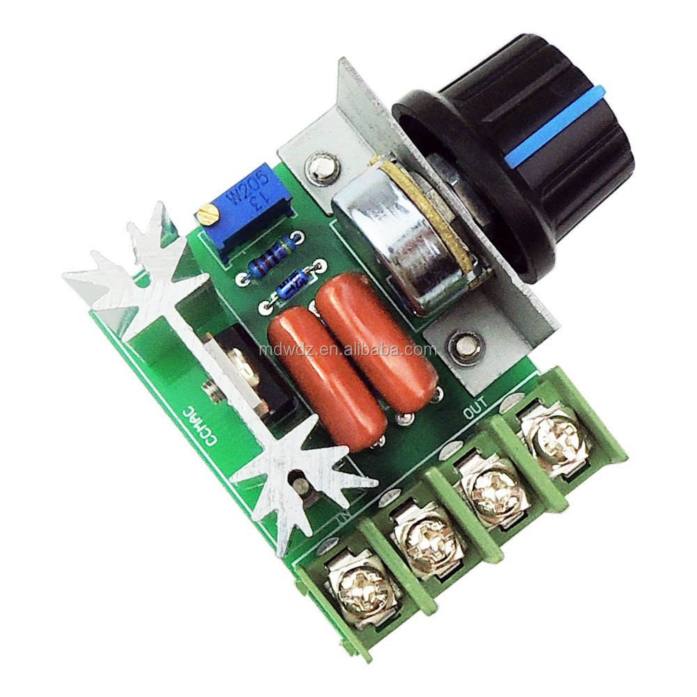 AC 50-220V 2000W(max) 25A SCR Constant Voltage AC Motor Speed Controller LED Dimmers electric motor controller