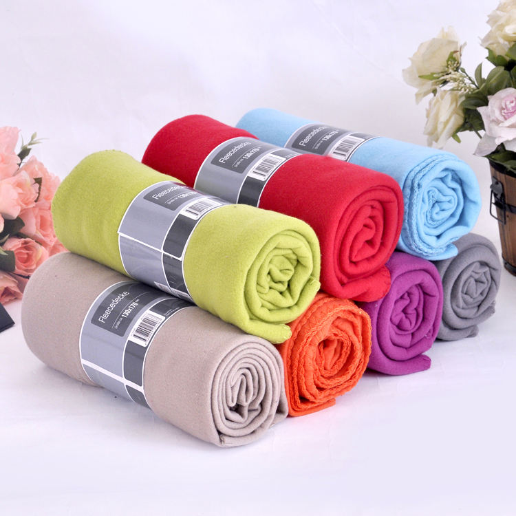 Aoyatex cheap custom wholesale solid color soft polyester polar fleece blanket in roll