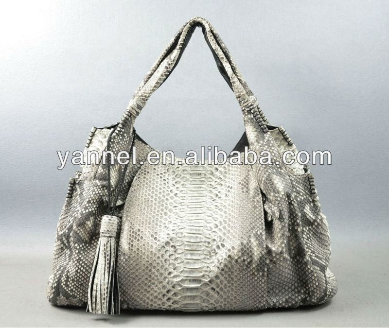 LUXURY python skin large lady hobo bags python leather purse bags women