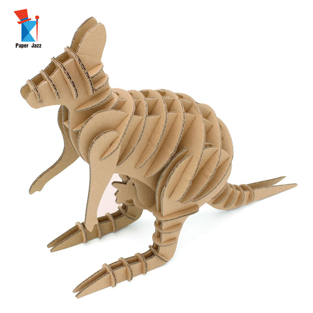 Unique Puzzle for Adults Cardboard Puzzles Kangaroo 3D 3 Star I'm Charmer Native Brown CA422