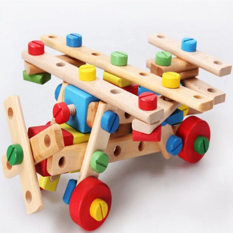 Custom Educational Combination Toy Screw Disassembly And Assembly Screw Toy Wooden Diy Craft