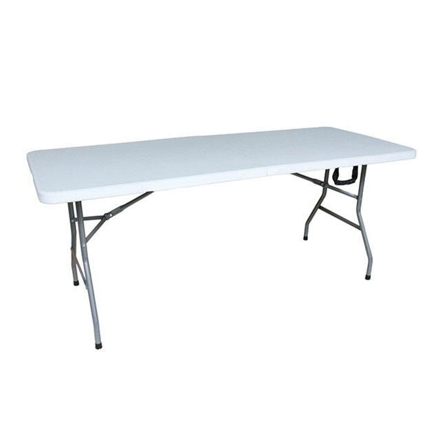Latest design outdoor restaurant furniture HPDE top dining table also used party tables and chair for sale