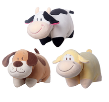 3 Style Dog Cattle Monkey Pillow Dolls Stuffed Plush Animal Toys Tiny Soft Toy Gifts For Children Girls
