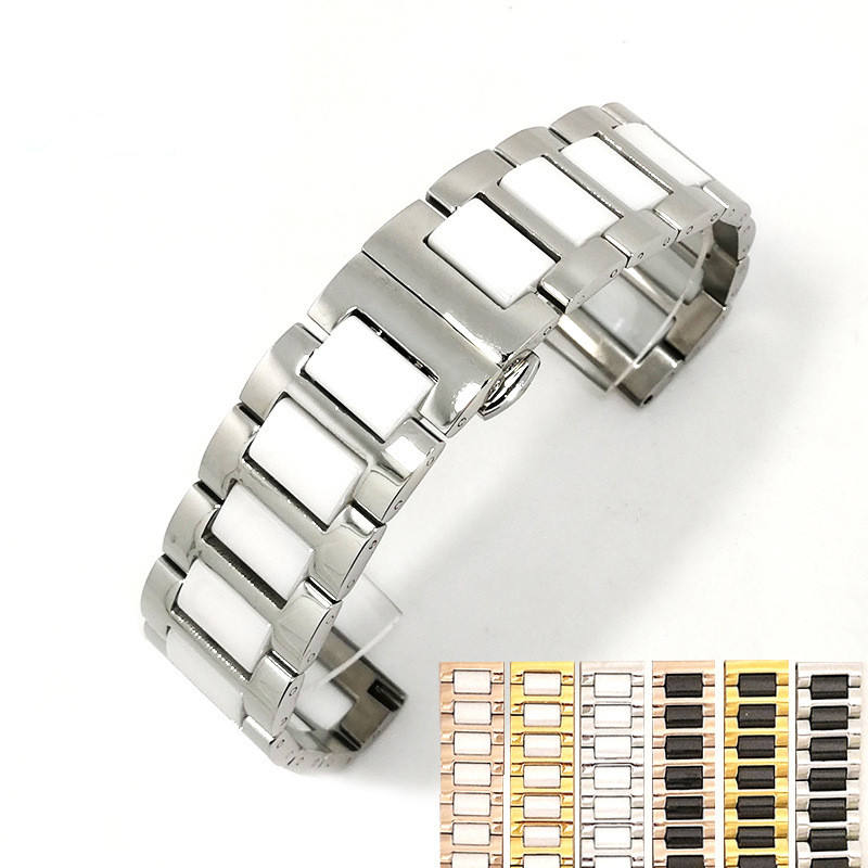 Quick release 색 watch band ceramics watch strap 제조