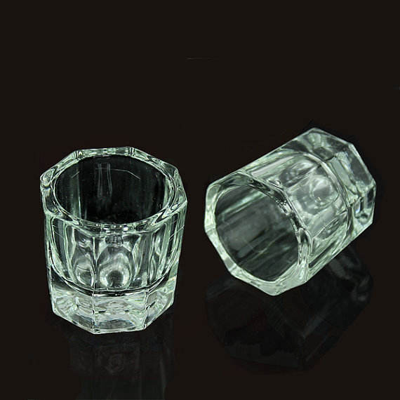 Crystal Glass Dappen Dish / Glass Dappen Dish Nail Art Acrylic Liquid Holder Container Crystal Tint Bowl Nail Art Equipment