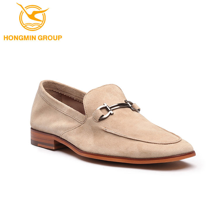 HONGMING Autumn and Winter Mens Shoes Leather Casual Lazy Shoes Walking Shoes
