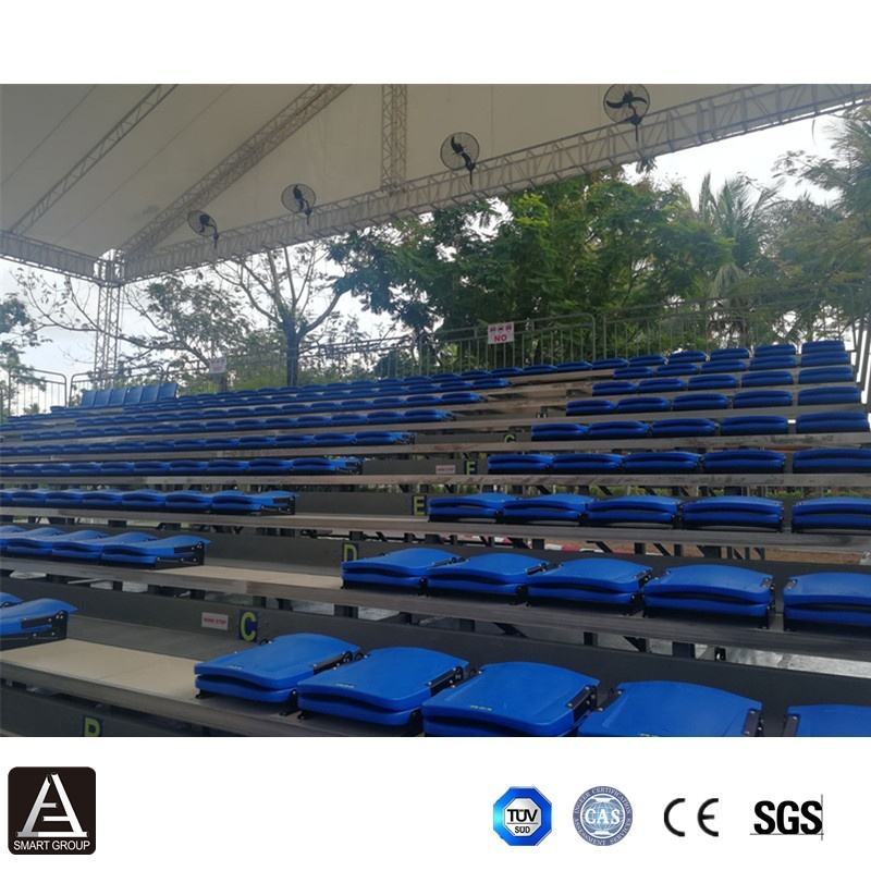 SMART retractable grandstand bleachers plastic seats stadium chairs indoor basketball bleacher seating for sports
