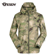 ESDY Men's Outdoor Hunting Soft Shell Waterproof Tactical Fleece Lined Jackets