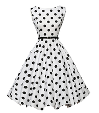 Fashion Retro Women Polka Dot Swing 1950s Pinup Vintage Rockabilly Party Dress