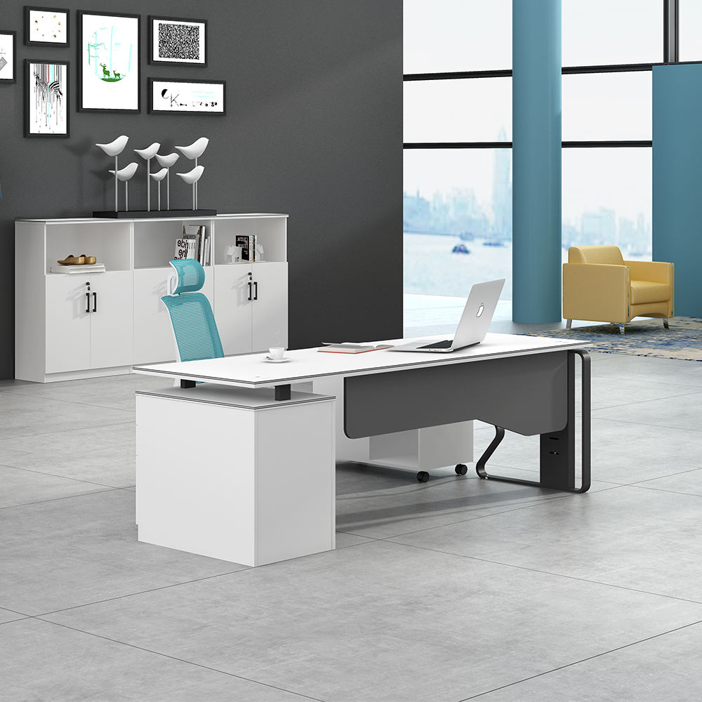 New Design Luxury CEO Manager Melamine Wooden Executive Modern Office Desk For Office Furniture