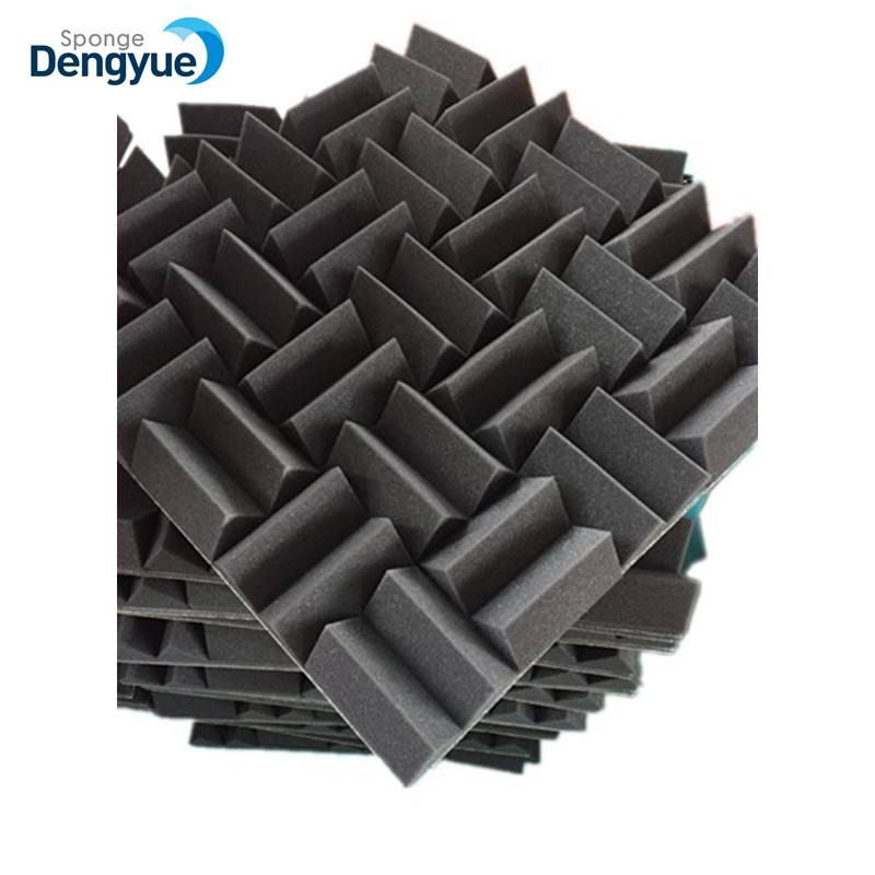 NEW design Soundproofing Decorations adhesive High Density Black Red Blue Acoustic foam