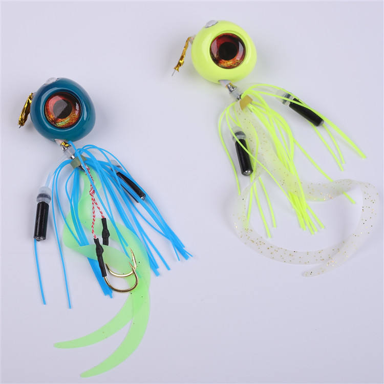 New Design 60g 80g 100g 120g 150g 200g Rubber Madai Snapper Lead Jig Fishing Lure