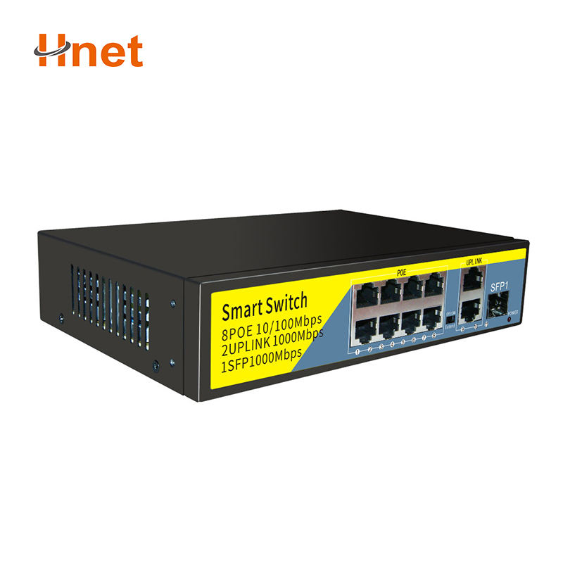 8 Port 100mpbs POE Switch with 3 Port 1000mpbs Gigabit Industrial Ethernet Switch
