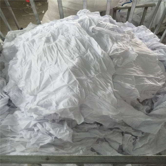 White Used bedsheets cotton rags with cheap price in China wiping rags