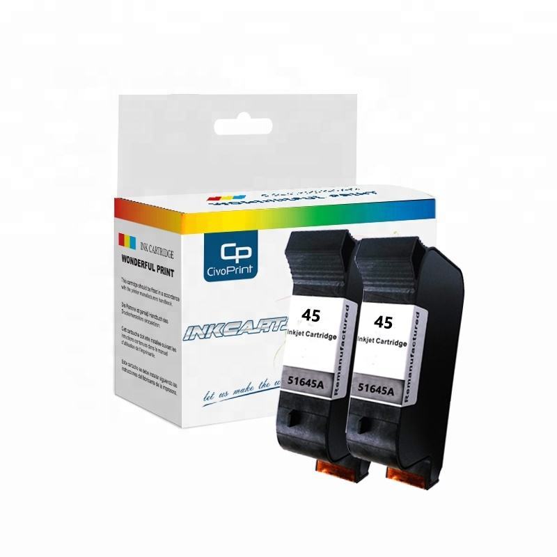 Civoprint Remanufactured Printer Ink Cartridges 45 51645A Compatible Deskjet 90C 930C 932C 1220 1230 Inkjet Plotter