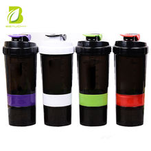 Beauchy 2018 OEM logo 2 in 1 Protein Powder Shaker cup for shaking bottle