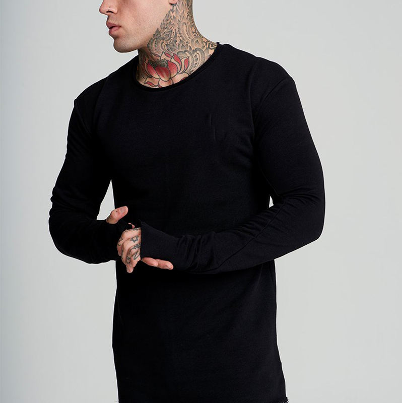 OEM Men Long Sleeve T Shirt Gym Apparel From China Supplier