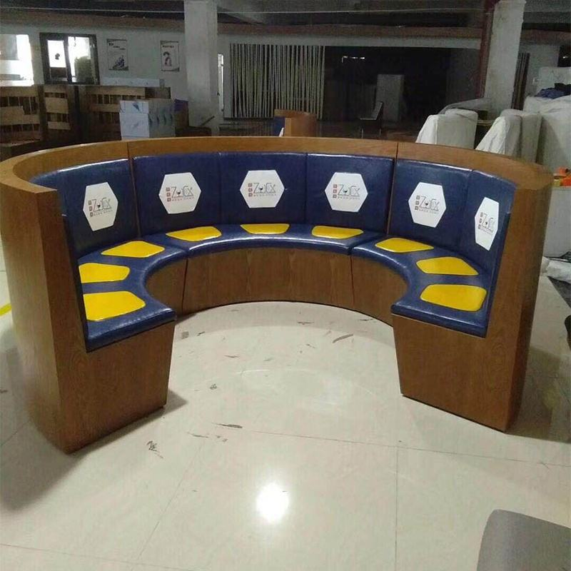 restaurant furniture seating booth with custom logo custom-made size color price for meter is from 100$ moq is 1 meter