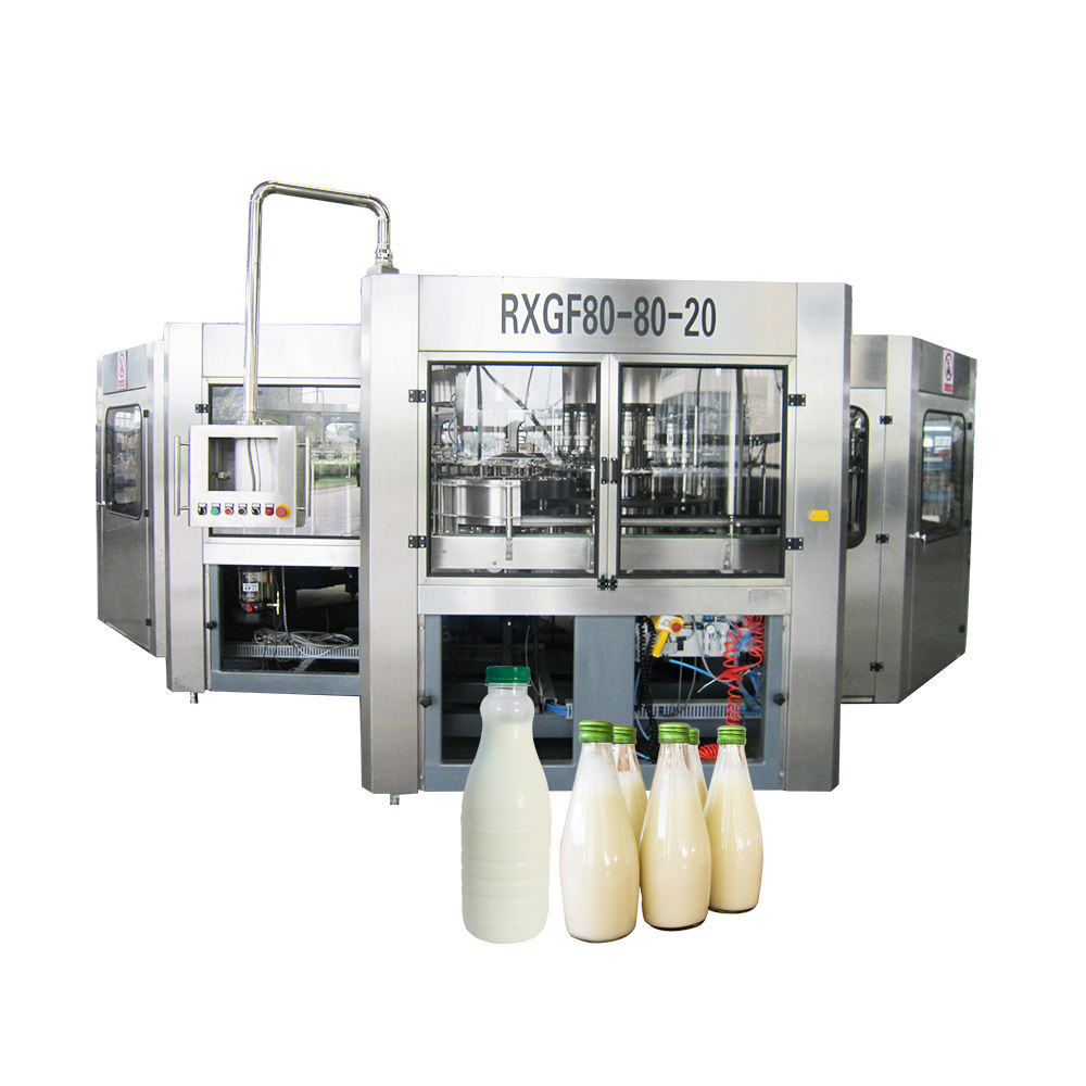 automatic soy milk bottling machine with aluminum foil sealing