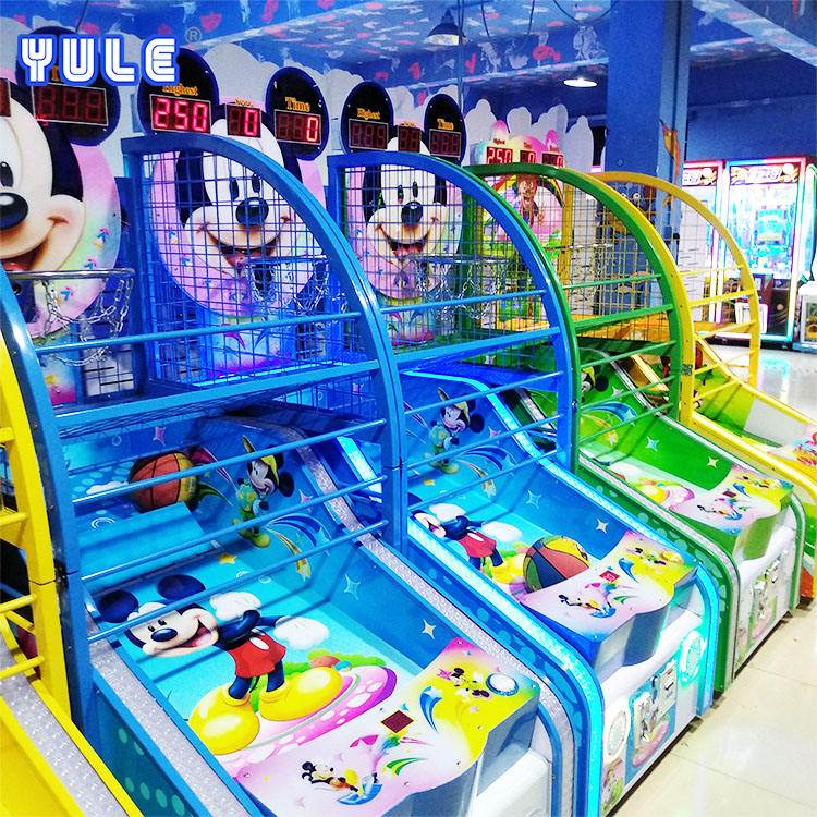 Most popular wholesale kids coin operated mini basketball shooting arcade game machine for kids