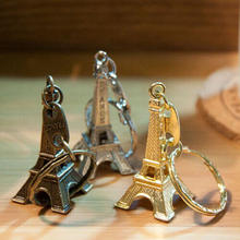 Metal Key Holder Paris Tower Eiffel Keychain Bag Accessories