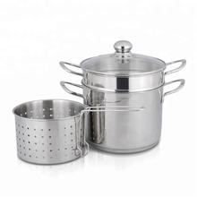 Excellent Quality Professional Pasta Pot Set 304 Stainless Steel Magic Chef Cookware