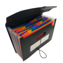 Accordion File Organizer 24 Pockets Expanding File Folder with Expandable Cover Standing Document Organizer Rainbow Filing Box