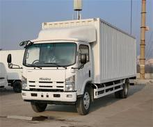 HOT SALE china isuzu medium commercial cargo van truck with 4*2 drive type and 4.8T payload